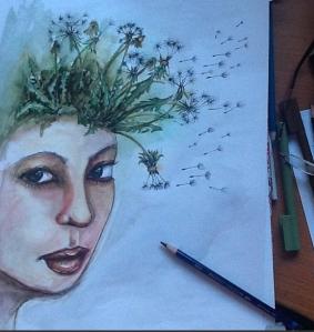 Unfinished 'malting' art piece.